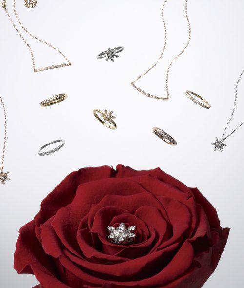 結婚記念日プレゼント-妻-10年-10周年-ジュエリー-スウィートテン-ダイヤモンド-EIKA-フラワージュエリー