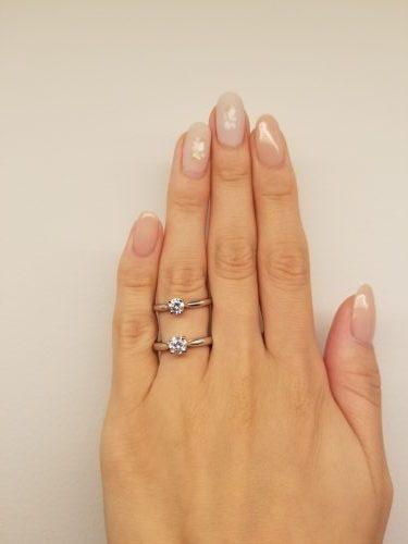 婚約指輪_比較_0.3_0.5_ダイヤモンド