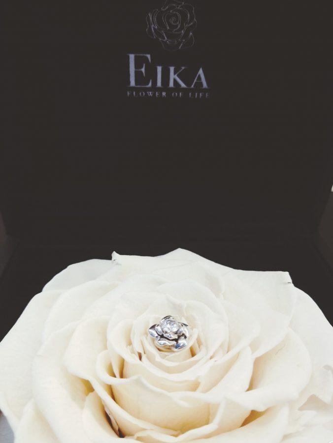 EIKA_フラワージュエリー_プリザーブドローズ_ホワイトデー_ホワイトローズ