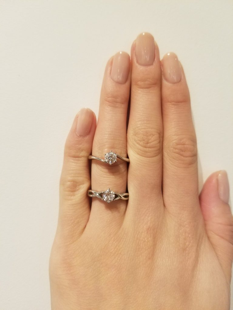 EIKA_エンゲージメントリング_ダイヤモンドリング_婚約指輪_比較_ウェーブリング