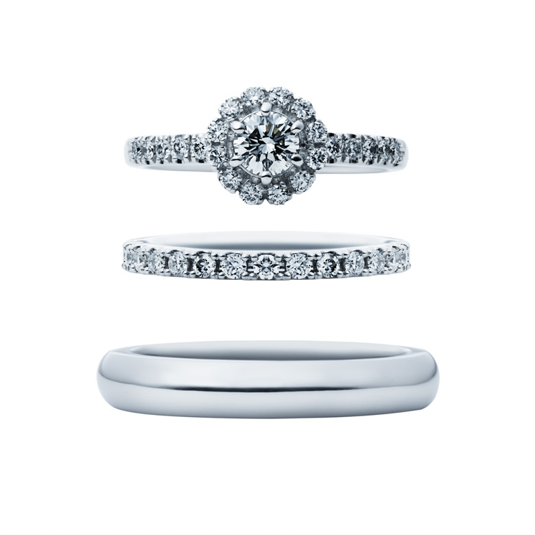 EIKA-婚約指輪-エンゲージリング-エタニティ-ブーケ-重ね付け-結婚指輪