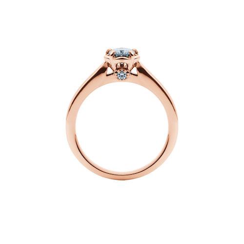 婚約指輪-エンゲージリング-EIKA-指輪-プロポーズ-バラ-ローズ-ソリテール-ピンクゴールド-ローズゴールド