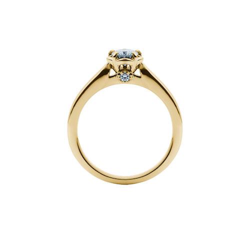 婚約指輪-エンゲージリング-EIKA-指輪-プロポーズ-バラ-ローズ-ソリテール-イエローゴールド