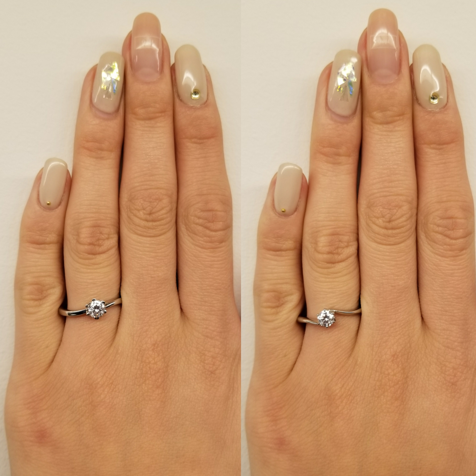 EIKA_EC1012_PT950_レビュー_着用イメージ_婚約指輪_エンゲージリング_プレ花嫁_プロポーズ_比較_大きさ_ダイヤモンド
