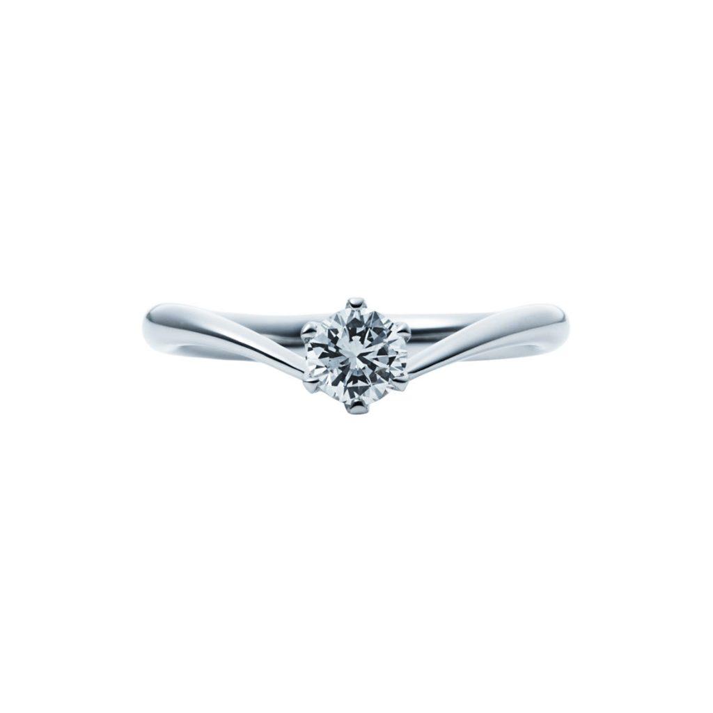 婚約指輪-エンゲージリング-EIKA-Vライン-V字-ウェーブライン