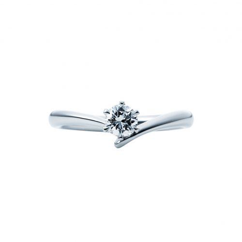 婚約指輪-エンゲージリング-EIKA-Yライン-Y字-ウェーブライン
