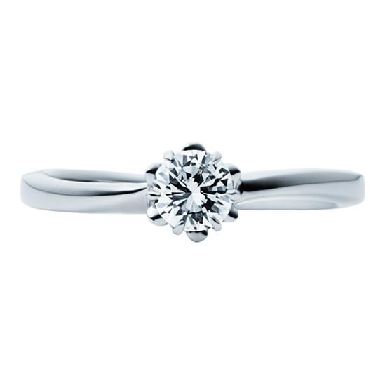 婚約指輪-エンゲージリング-EIKA-ウェーブライン_バラ_FJEC_EC1012_Pt950_ローズ