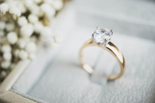 婚約指輪_K18_ダイヤモンド
