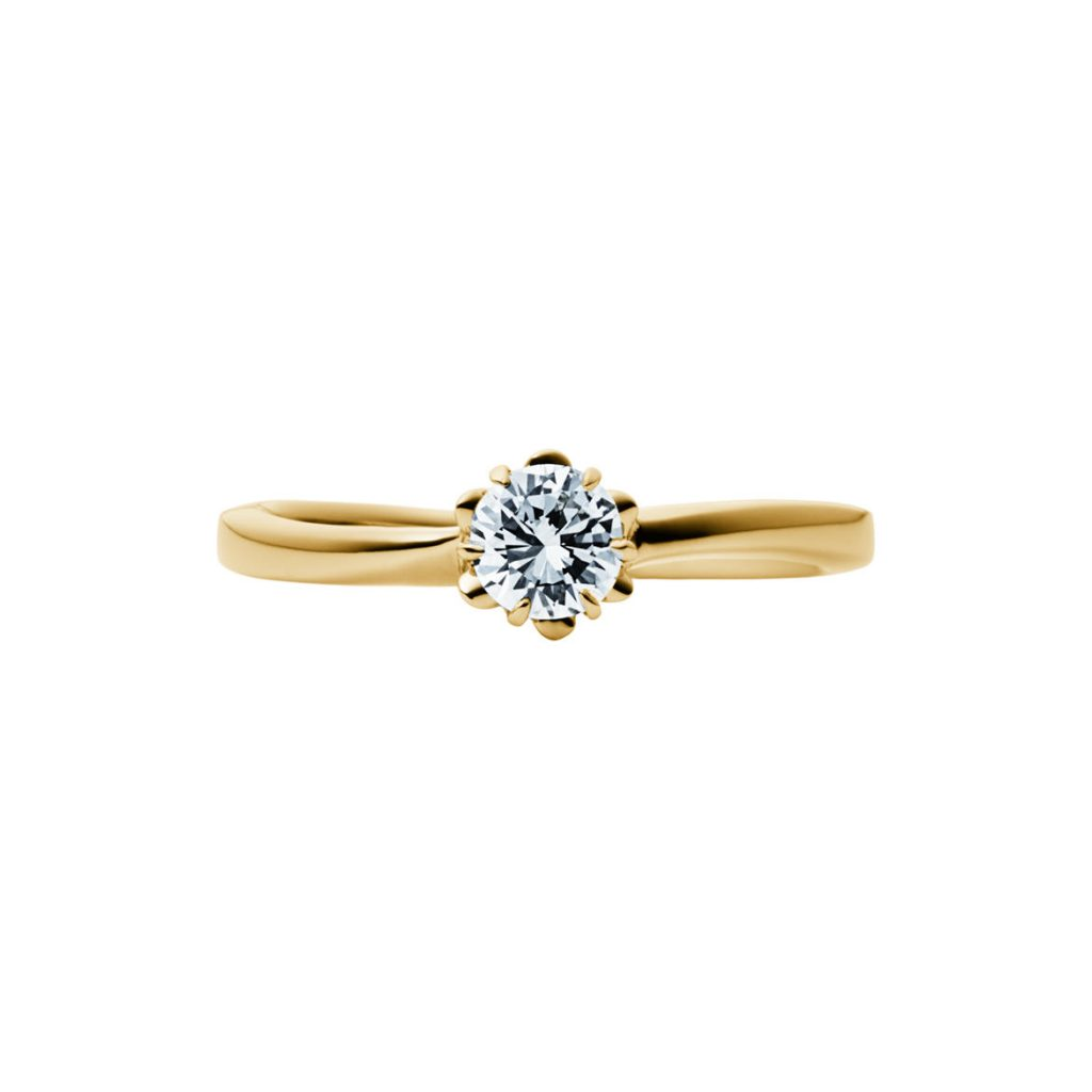 EIKA-婚約指輪-エンゲージリング-イエローゴールド-K18-18金